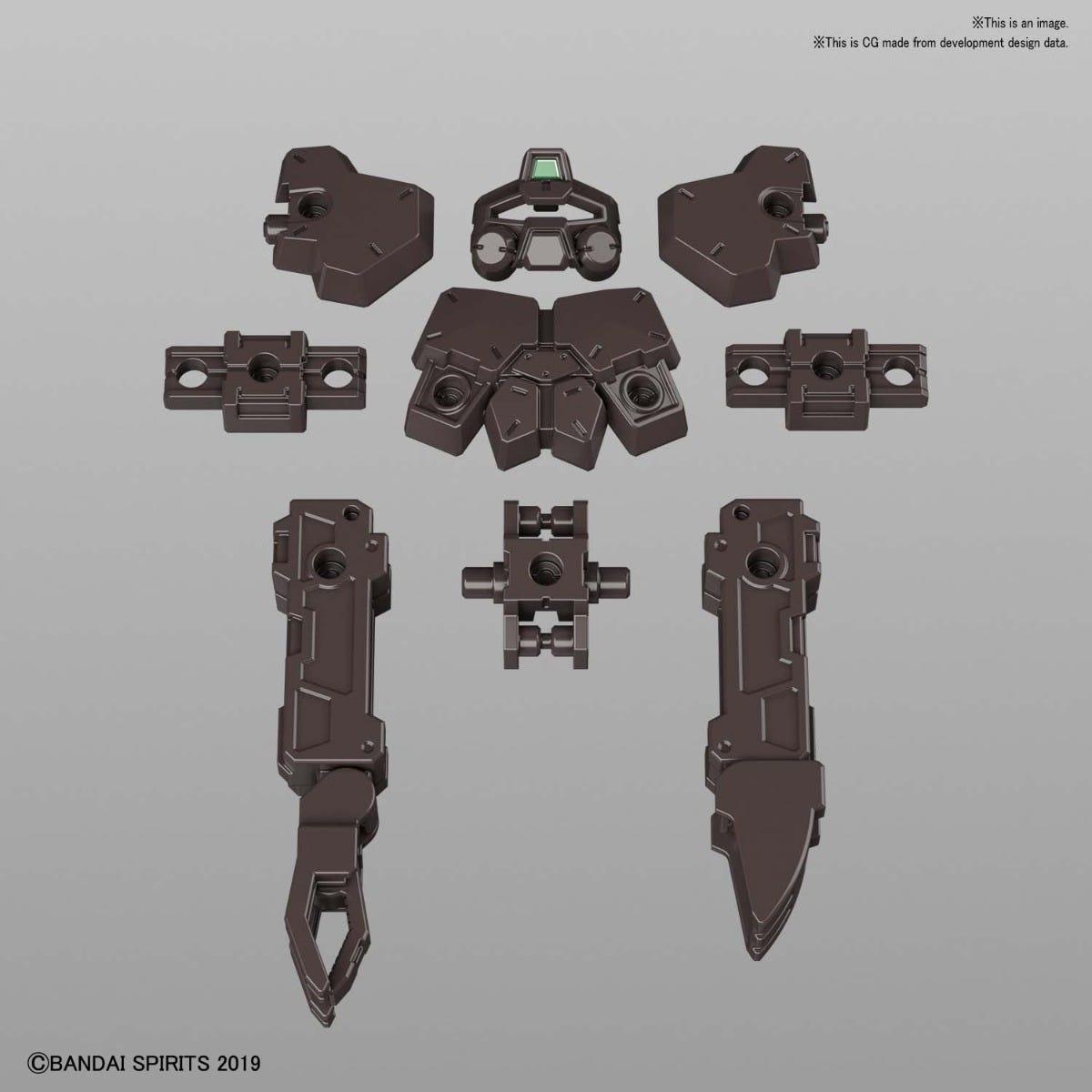 Bandai #16 RABIOT Base Attack Option Armor (Dark Brown) 30 MM, Bandai Spirits 30 MM