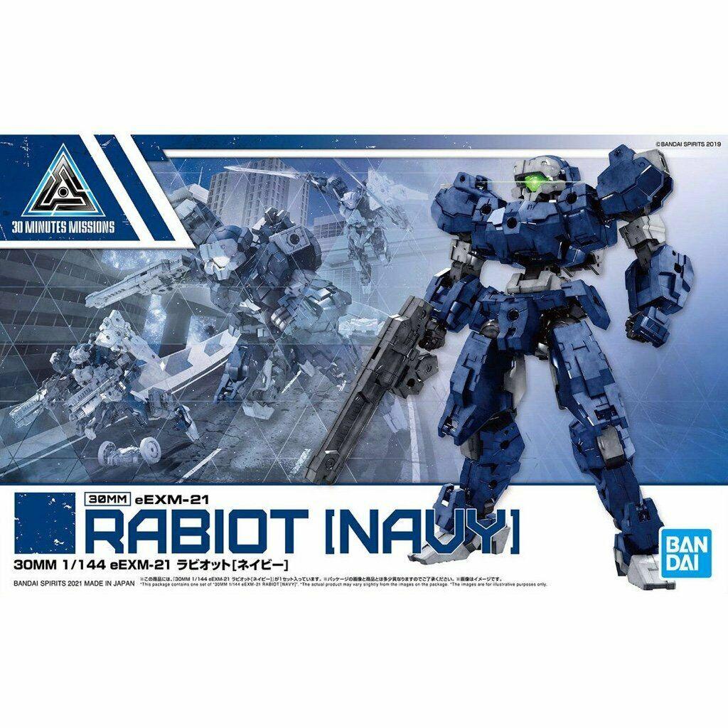 """Bandai #32 eEXM-21 Rabiot (Navy) """"30 Minute Missions"""", Bandai Spirits 30MM 1/144"""