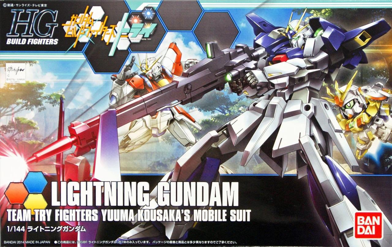 """Bandai #20 Lightning Gundam """"Gundam Build Fighters Try"""", Bandai HGBF 1/144"""