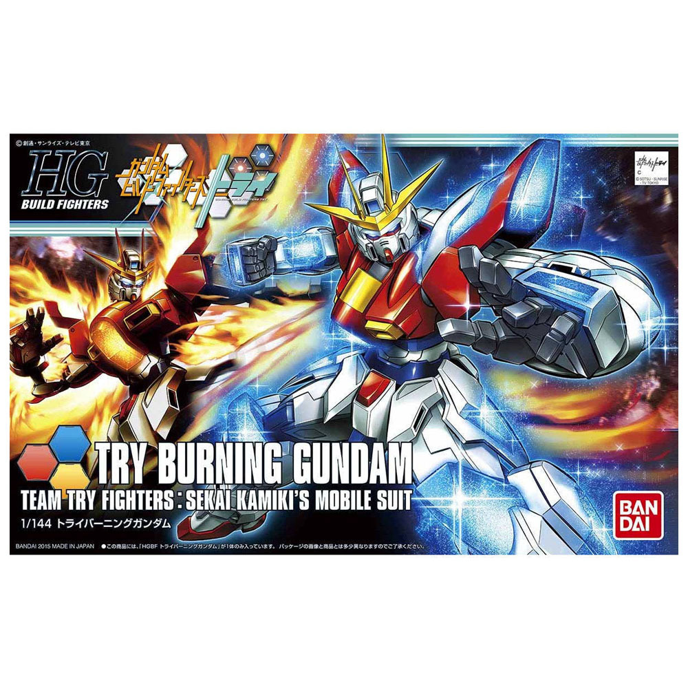 "Bandai #28 Try Burning Gundam ""Gundam Build Fighters Try"", Bandai HGBF"