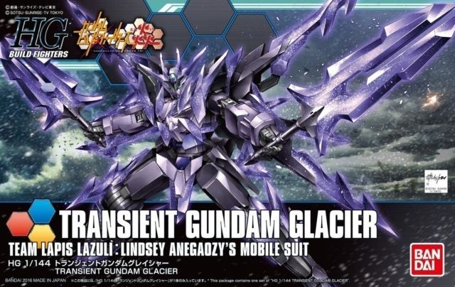 "Bandai #50 Transient Gundam Glacier ""Gundam Build Fighters"", Bandai HGBF"
