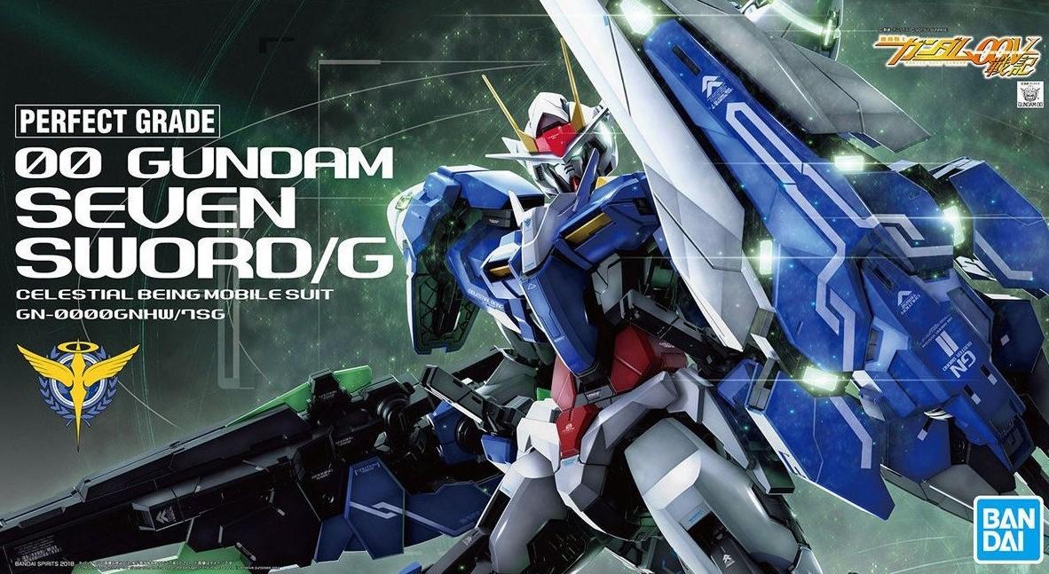 """Bandai 00 Gundam Seven Sword/G """"Gundam 00"""", Bandai PG 1/60"""