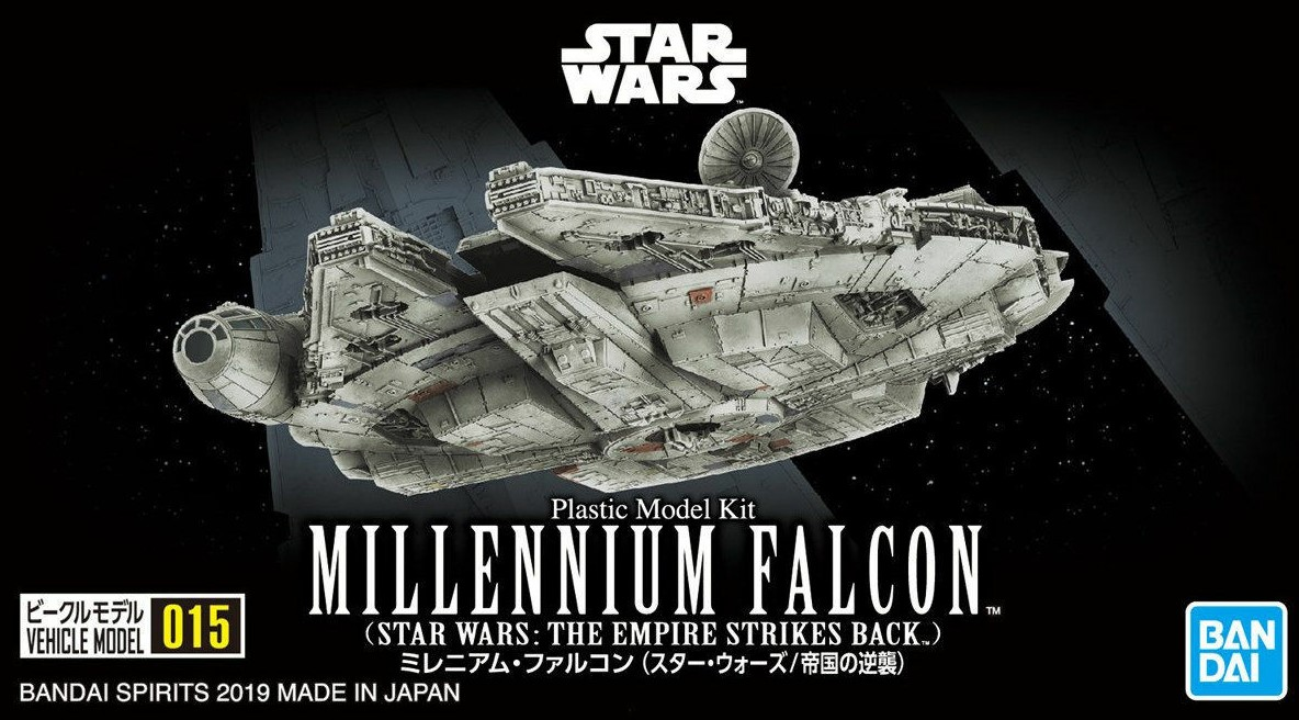 "Bandai 0015 Millennium Falcon (Empire Strikes Back Ver.) ""Star Wars"", Bandai Star Wars Vehicle Plastic 1/350 Model"