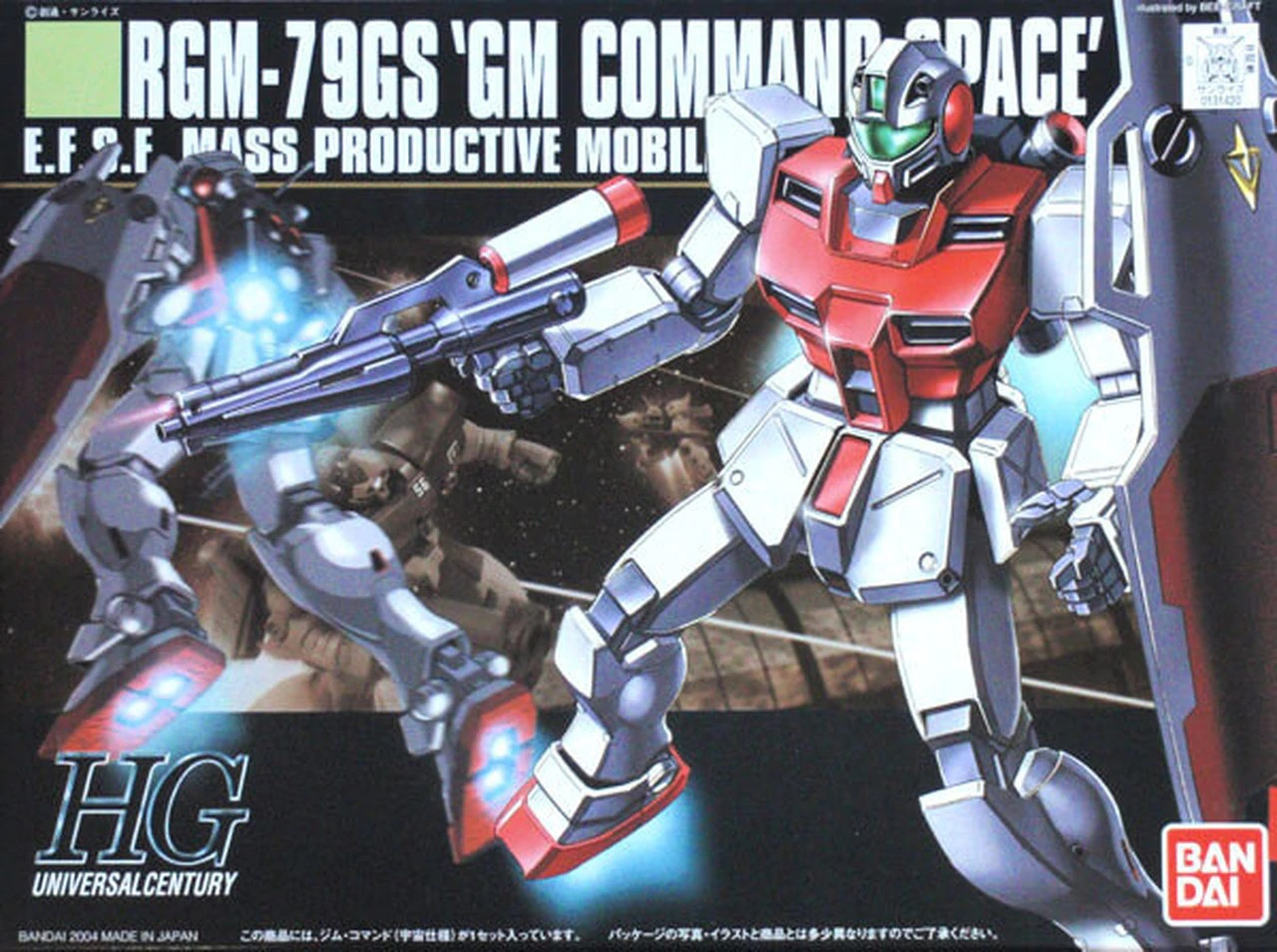 "Bandai #51 RGM-79G GM Command (Space Type) ""Gundam 0080"", Bandai HGUC"