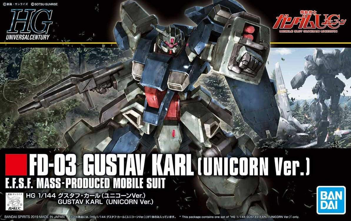 """Bandai #221 Gustav Karl (UC Ver). """"Gundam Unicorn"""", Bandai HGUC 1/ 144"""