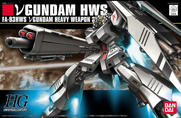 """Bandai #93 Nu Gundam (Heavy Weapon System) """"Char's Counterattack"""", Bandai HGUC"""