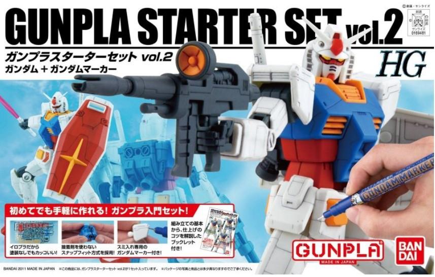 Bandai GunPla Starter Set 2: Gundam Ver G30th, Bandai HGUC