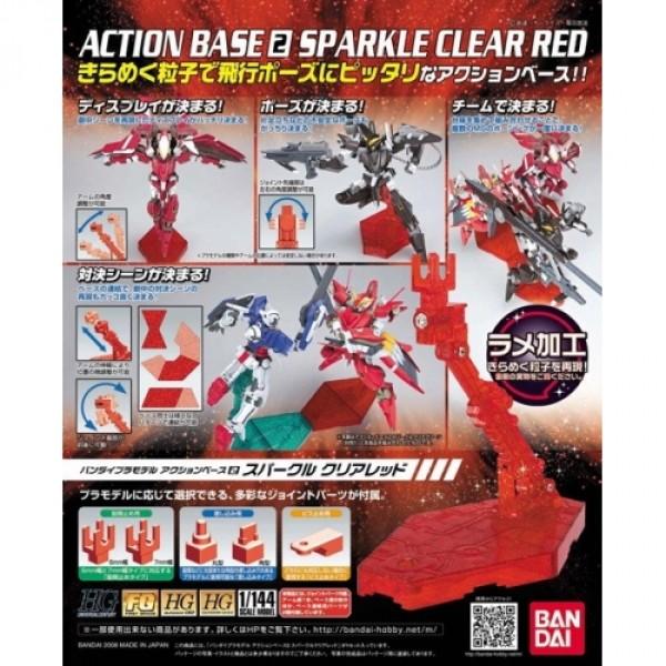 Bandai Red Action Base2 Display Stand 1/144 (Box/20), Bandai