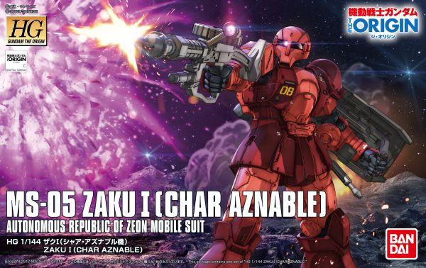 Bandai The Origin - 1/144 HG MS-05 Char Aznable's Zaku I