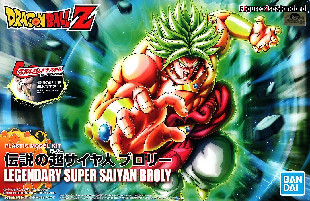 "Bandai Legendary Super Saiyan Broly (New PKG Ver) ""Dragon Ball Z"", Bandai Figure-rise Standard"