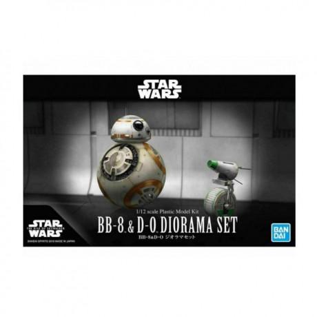 """Bandai BB-8 & D-0 Diorama Set """"Star Wars"""" (Rise of Skywalker Ver.), Bandai Spirits Star Wars Plastic Model"""