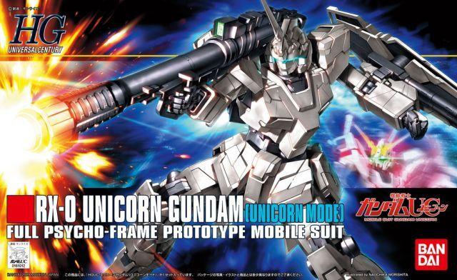 """Bandai #101 Unicorn Gundam (Unicorn Mode) """"Gundam UC"""", Bandai HGUC 1/144"""