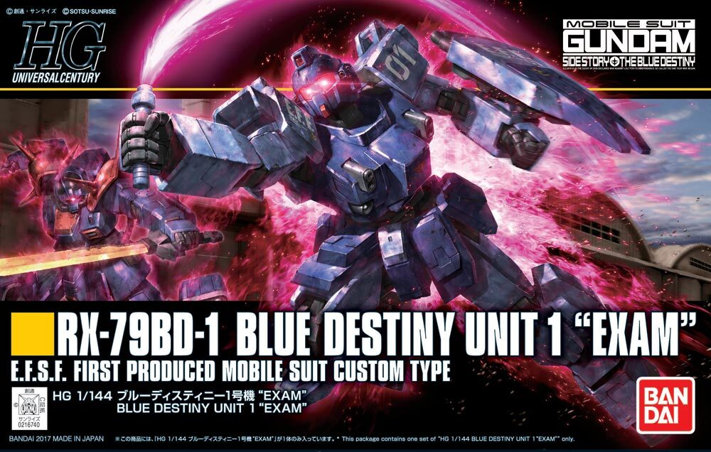 "Bandai #207 Blue Destiny Unit 1 (EXAM) ""Gundam: The Blue Destiny"","