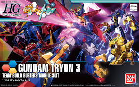 "Bandai #38 Gundam Tryon 3 ""Gundam Build Fighters Try"", Bandai HGBF"