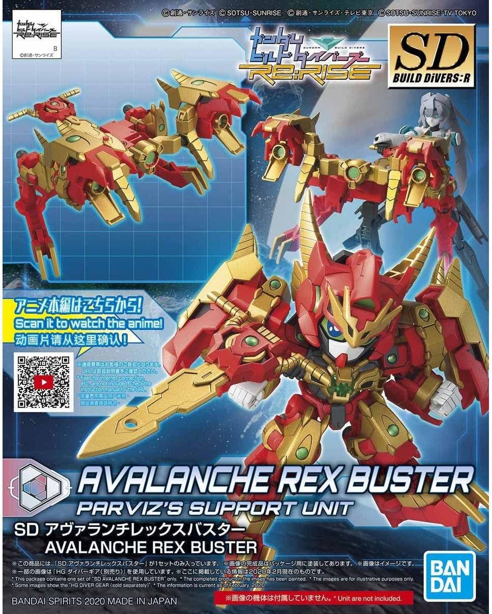"""Bandai #18 Avalanche Rex Buster """"Gundam Build Divers"""", Bandai Spirits SDBD 1/144"""