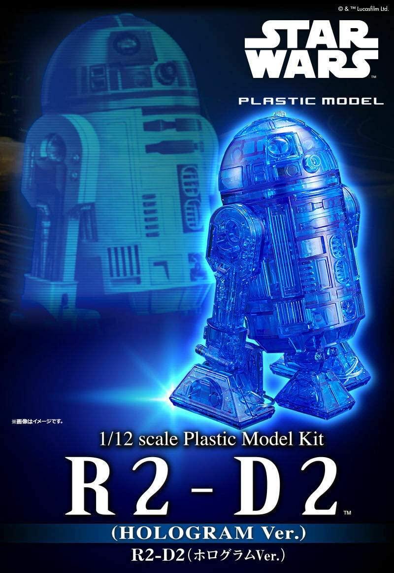 """Bandai R2-D2 (Hologram Ver.) """"Star Wars"""", Bandai Star Wars 1/12 Plastic Model"""
