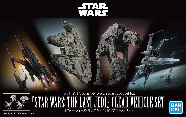 "Bandai 1/144 & 1/350 & 1/540 Star Wars: The Last Jedi Clear Vehicle Set ""Star Wars"", Bandai Spirits VM"