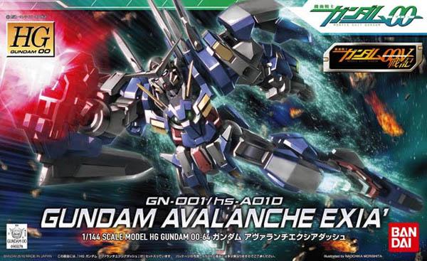 "Bandai #64 Gundam Avalanche Exia Dash ""Gundam 00"", Bandai HG 00"