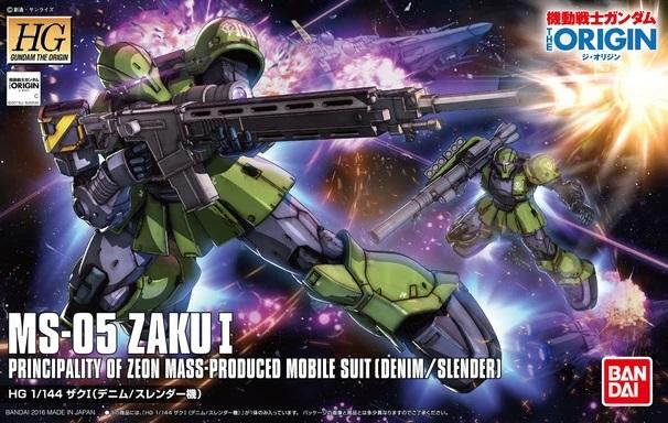 "Bandai #09 Zaku I (Denim/Slender Unit) ""Gundam The Origin"", Bandai HG The Origin"