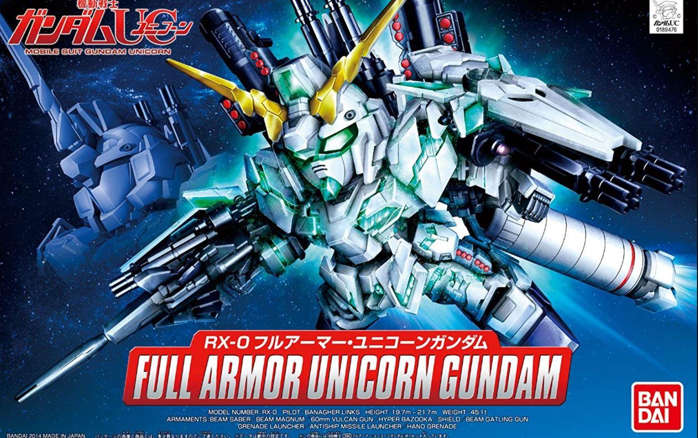 """Bandai BB#390 Full Armor Unicorn Gundam """"Gundam UC"""", Bandai SD"""