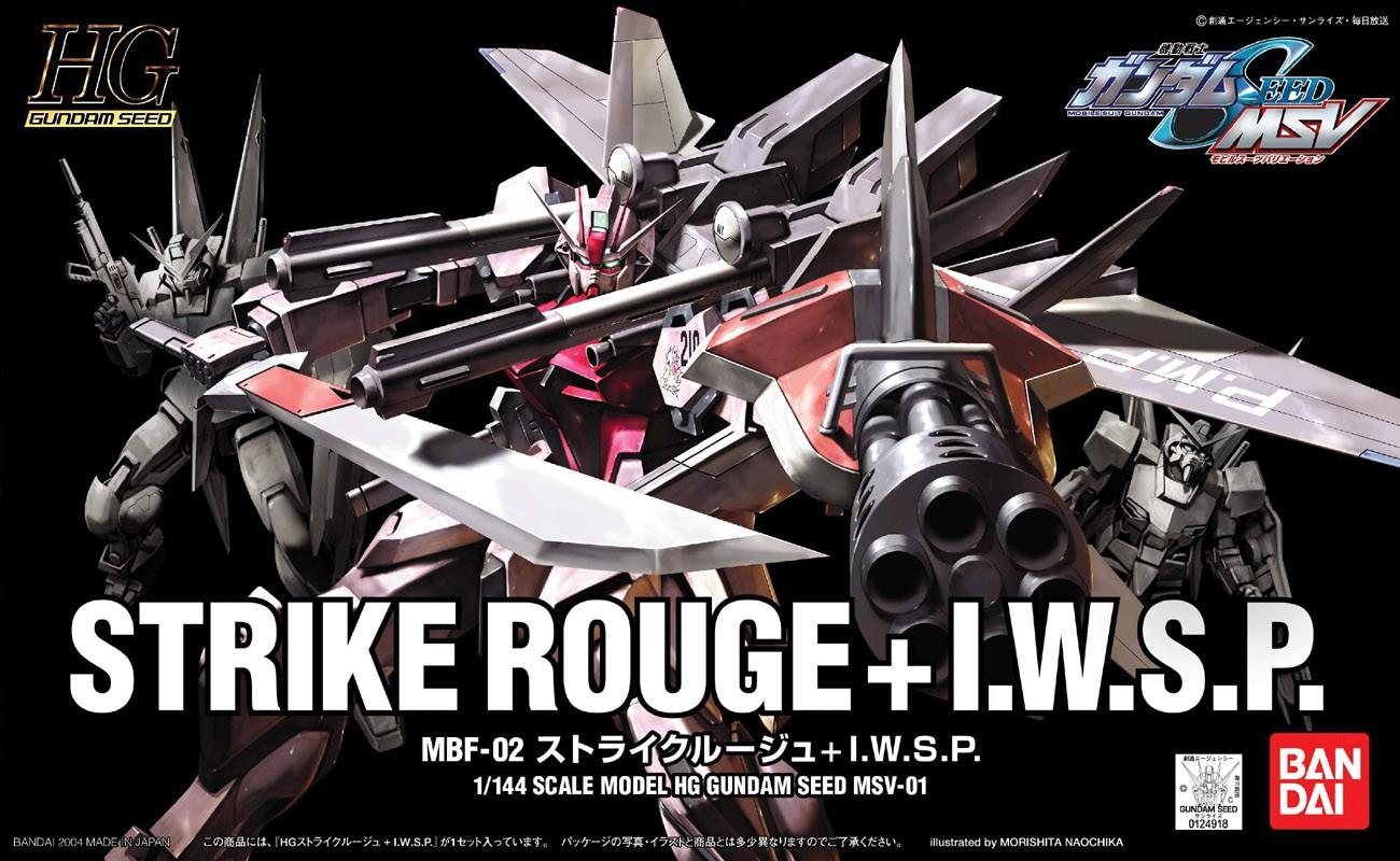 """Bandai MSV #1 Strike Rouge + IWSP """"Gundam SEED"""", Bandai HG SEED"""