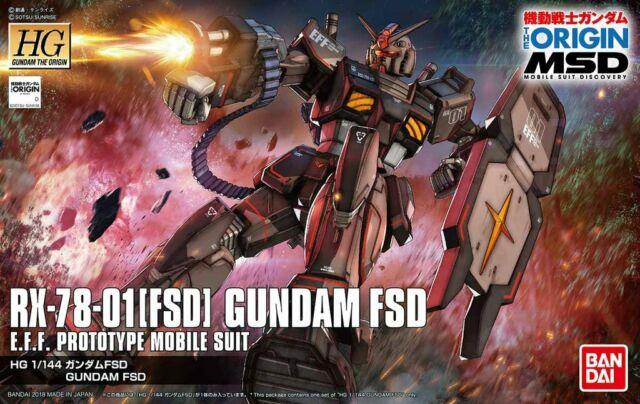"""Bandai Gundam FSD """"Gundam The Origin"""", Bandai HG The Origin"""