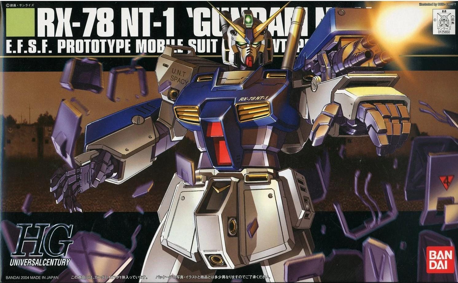 "Bandai #47 RX-78NT-1 Gundam Alex ""Gundam 0080"", Bandai HGUC"
