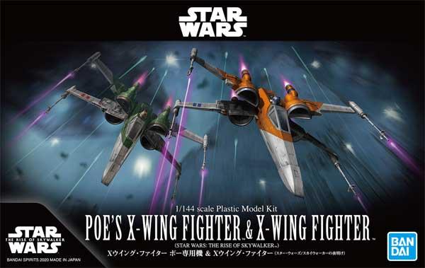 "Bandai Poe's X-Wing & Resistance X-Wing (Rise of Skywalker Ver.) ""Star Wars"", Bandai Spirits VM"