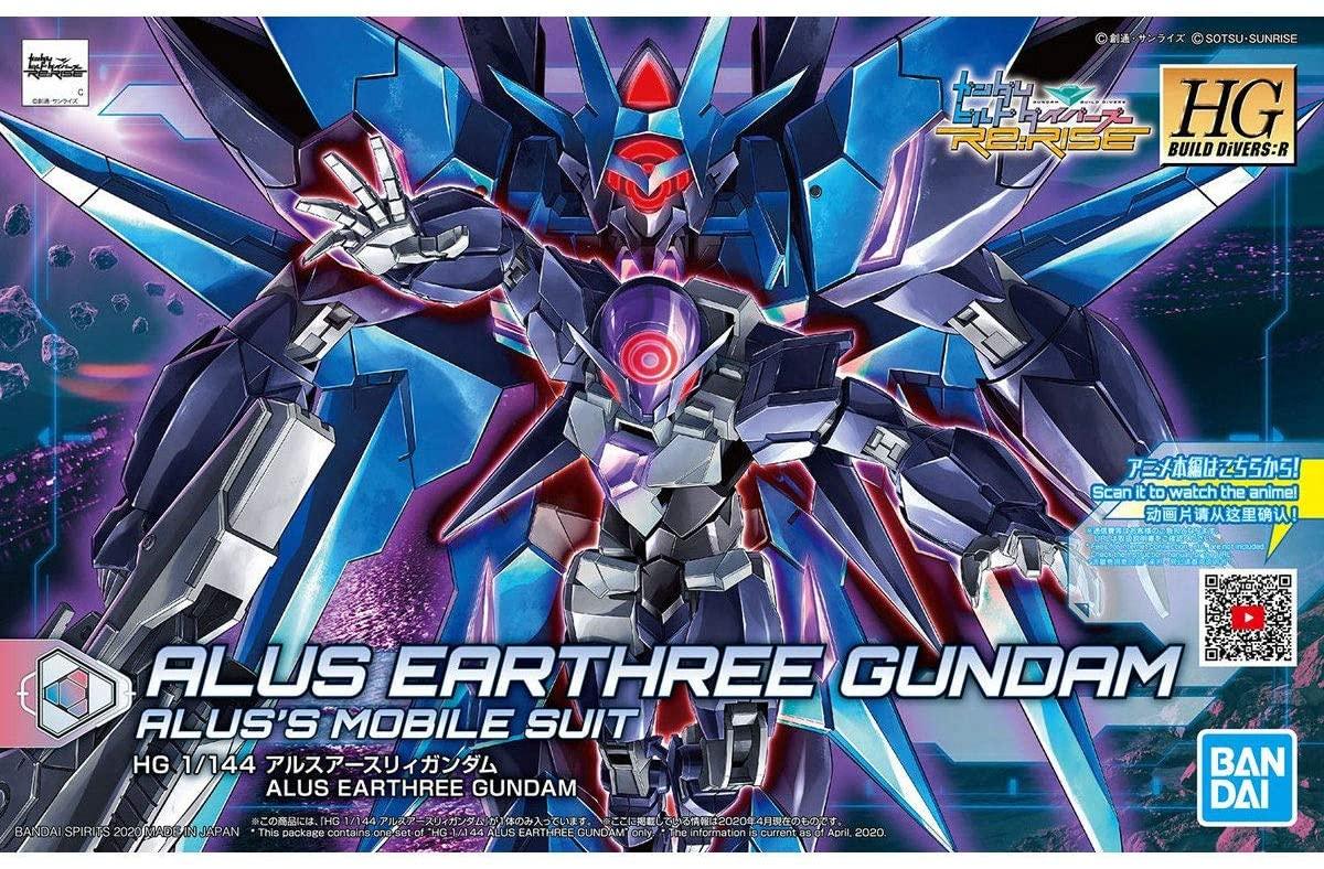 """Bandai #22 Alus Earthree Gundam """"Gundam Build Divers"""", Bandai Spirits HGBD 1/144"""