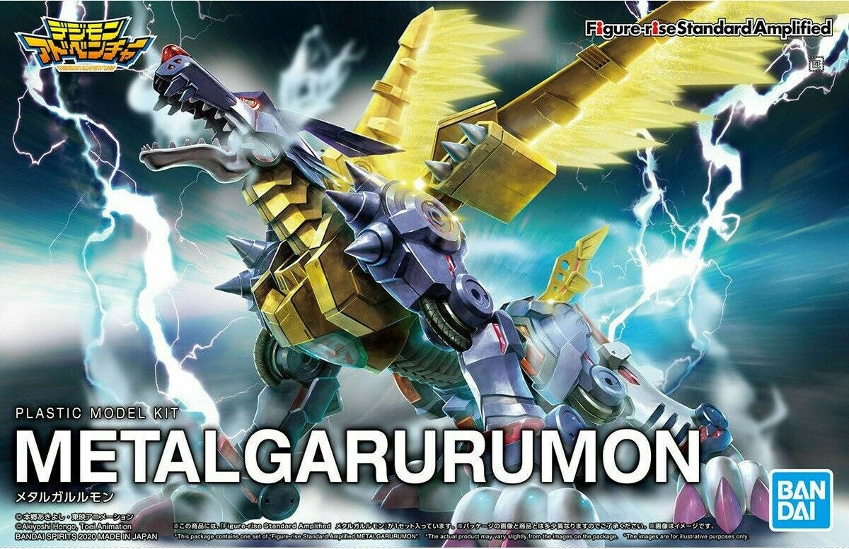 "Bandai Metal Garurumon (Amplified) ""Digimon"", Bandai Spirits Figure-rise Standard"