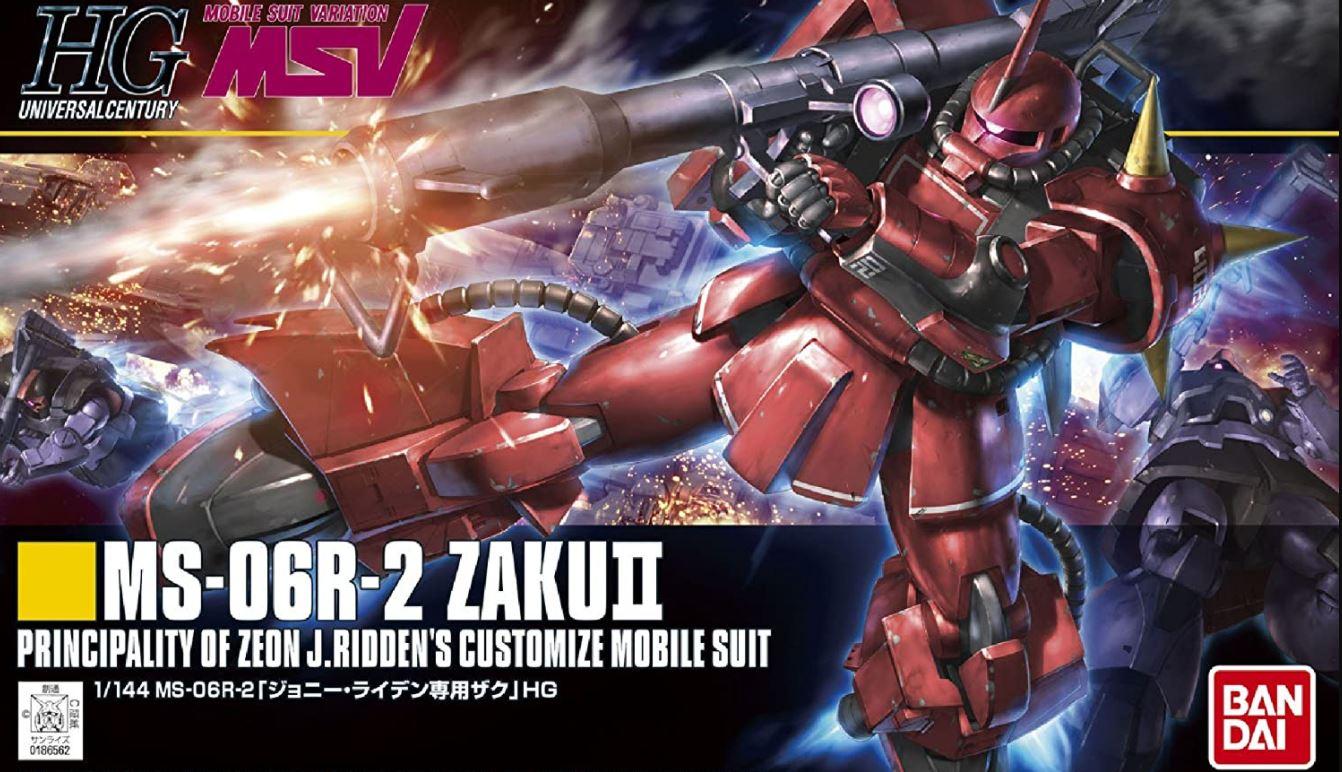 "Bandai #166 MS-06R-1A Zaku II Johnny Ridden Custom ""Mobile Suit Gundam"", Bandai HGUC"