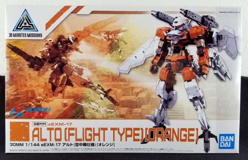 "Bandai #26 eEXM-17 Alto Flight Type (Orange) ""30 Minute Missions"", Bandai Spirits 30MM"