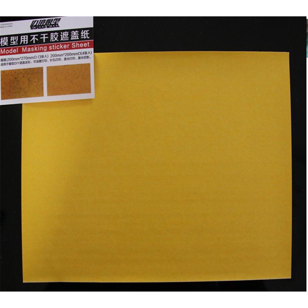 Border Model Masking Sticker Sheet (3 Pcs)