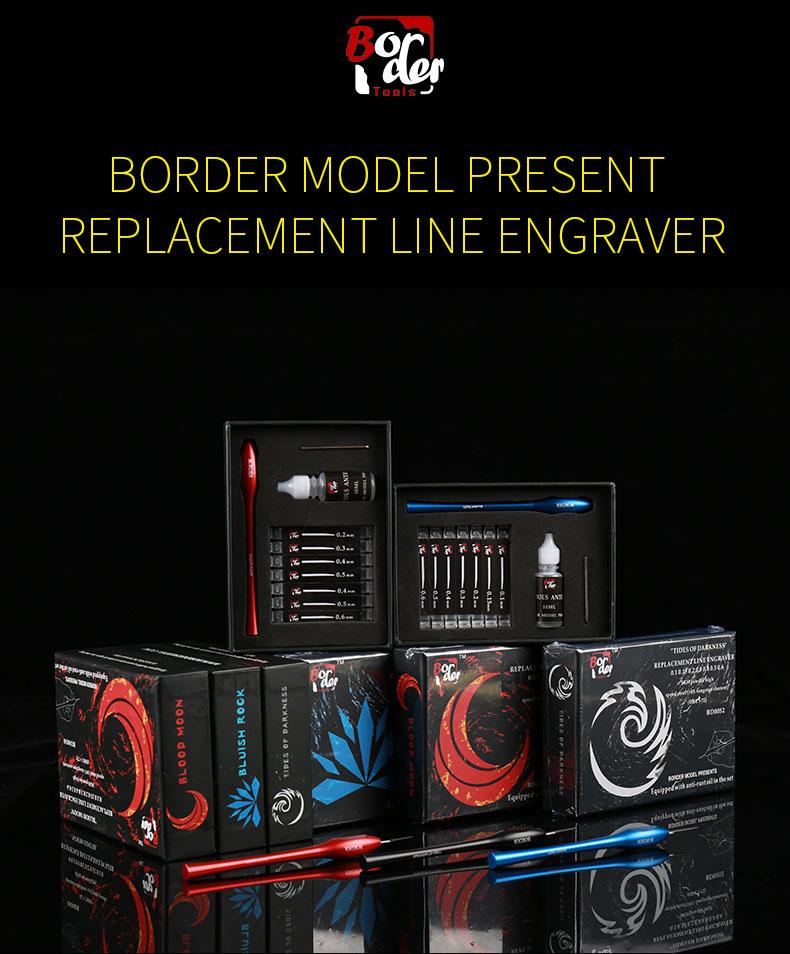 "Border Model REPLACEMENT LINE ENGRAVER ""BLUISH ROCK""(BLUE)"