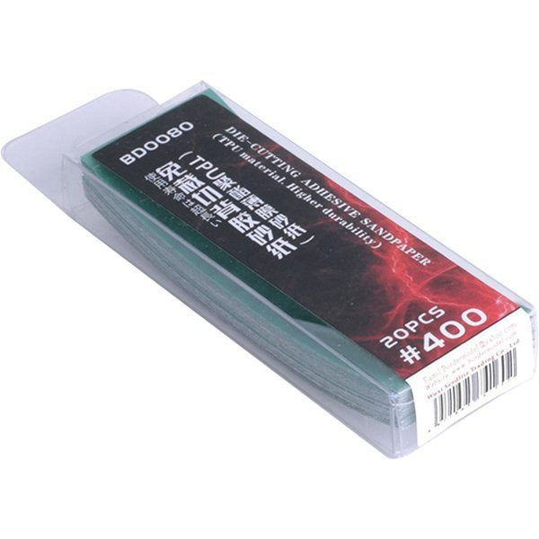 Border Model Die-cutting adhesive sandpaper 20PCS 400#