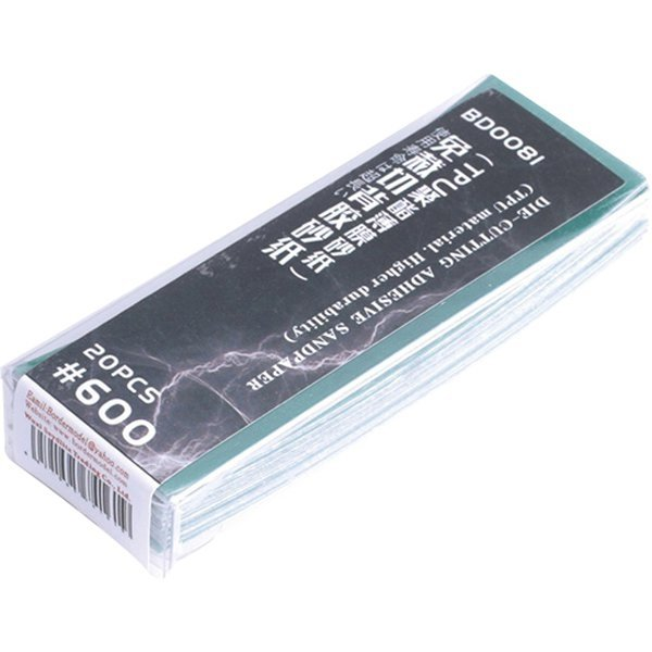 Border Model Die-cutting adhesive sandpaper 20PCS 600#