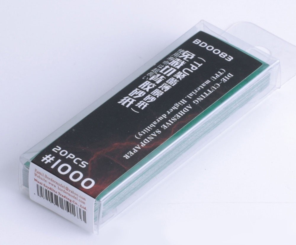 Border Model Die-cutting adhesive sandpaper 20PCS 1000#