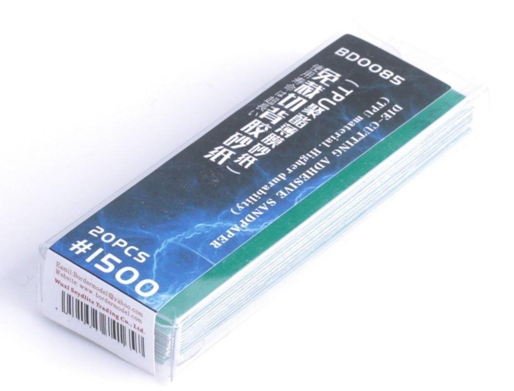 Border Model Die-cutting adhesive sandpaper 20PCS 1500#