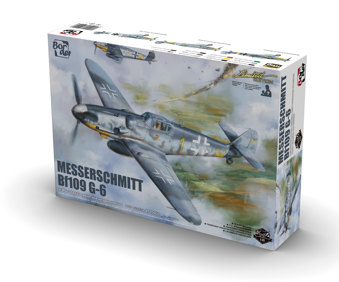Border Model 1/35 Messerschmitt BF109G-6, Aircraft