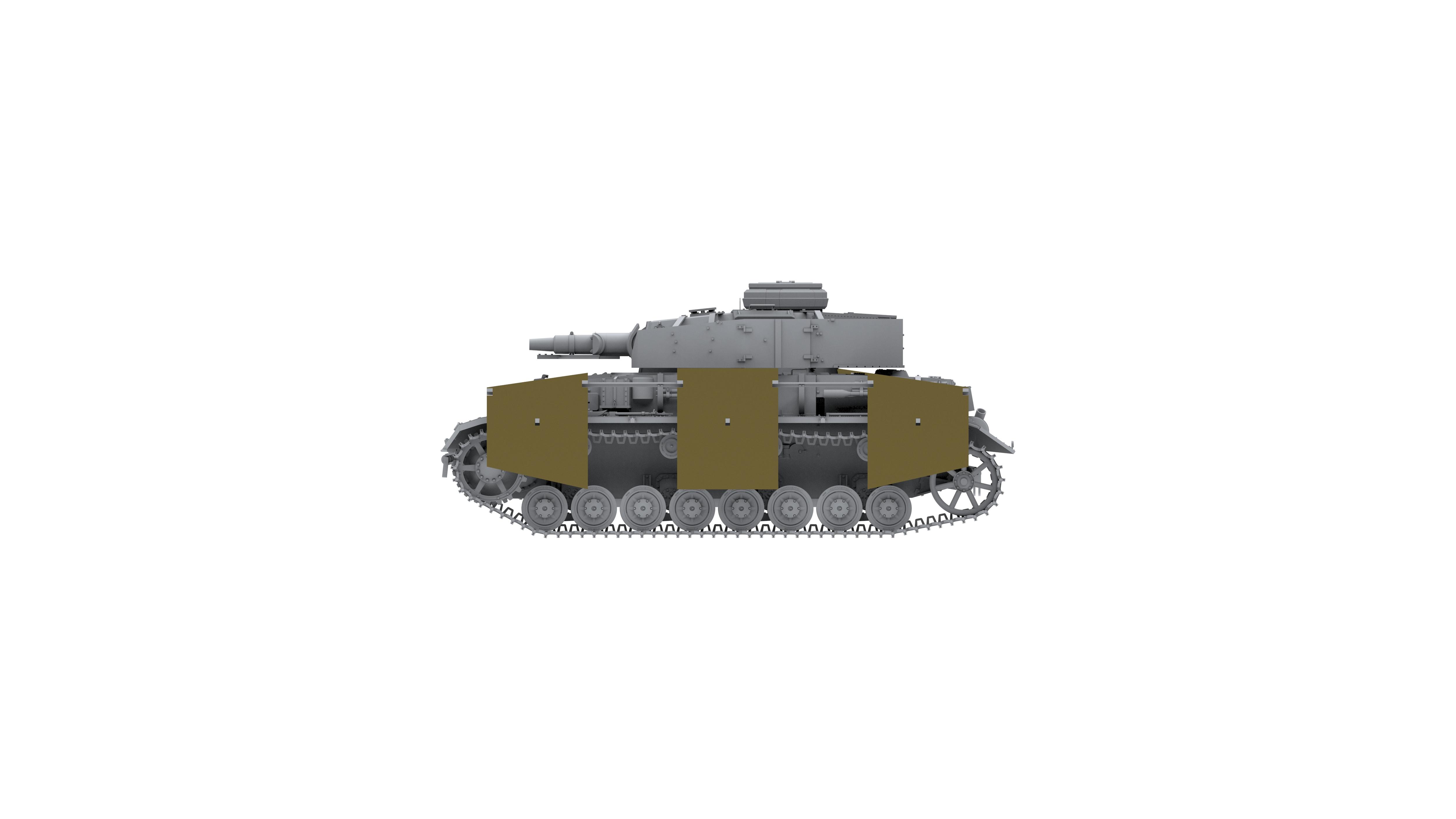 Border Model PANZER IV F1 VORPANZER SCHUZEN 3IN 1
