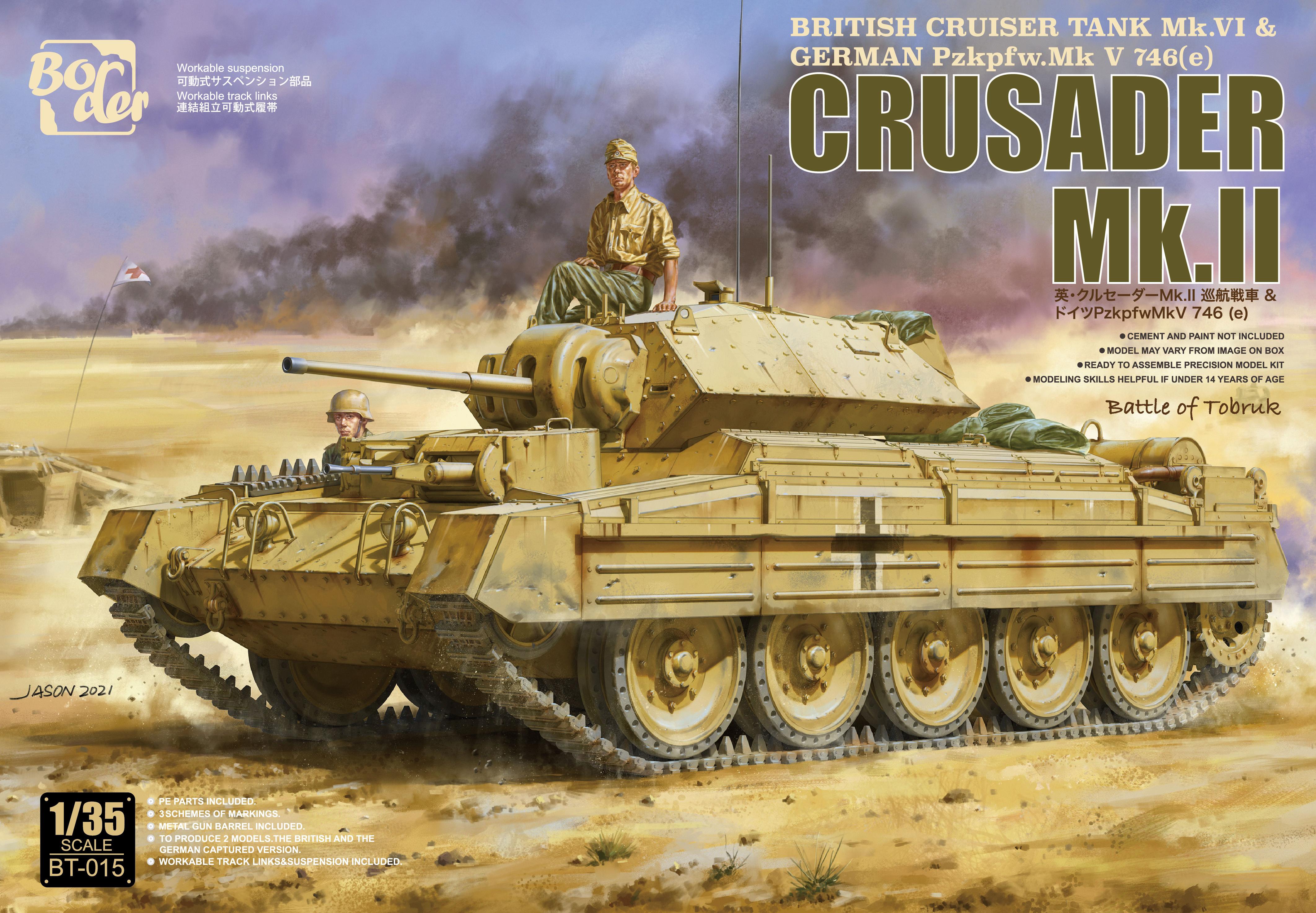 Border Model 1/35 British Cruiser Tank Mk.VI & GERMANY Pzkpfw.Mk V 746(e) Crusader Mk.II