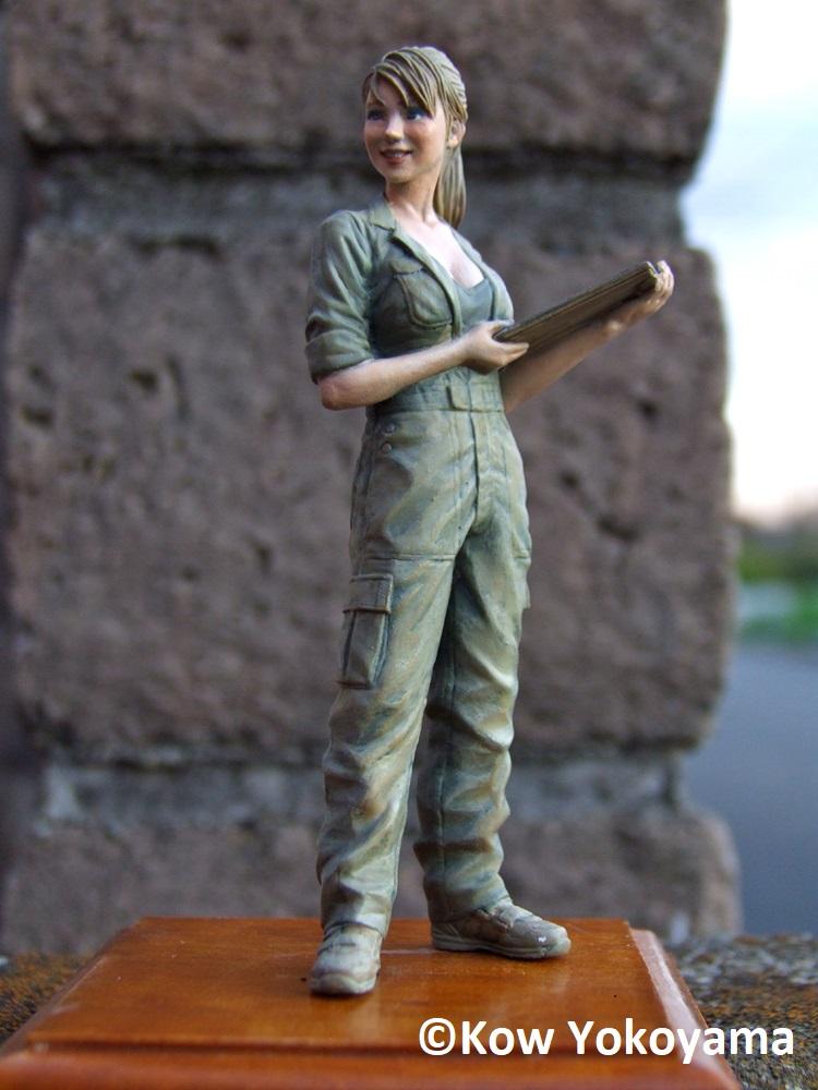 Brick Works Maschinen Krieger Female Mechanic (B) - Martina the Engineer