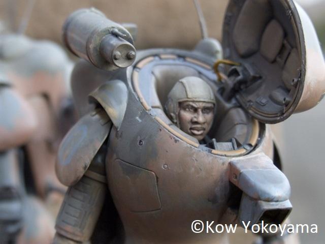 "Brick Works Maschinen Krieger Mercenary Army Male Head Parts ""Sergeant Garcia & Bigman Superior"""