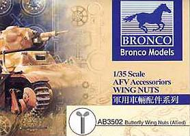 Bronco Models 1/35 Butterfly Wing Nuts (General Purpose) AFV Accessories Kit