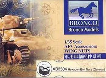 Bronco Models 1/35 Hexagon Bolt Nuts (German Version) AFV Accessories Kit