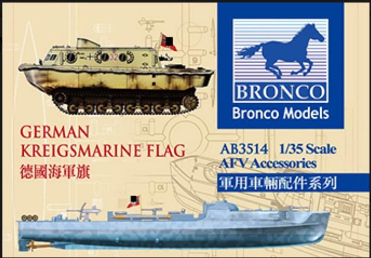 Bronco Models 1/35 German Kriegsmarine Flag AFV Accessories Series Kit