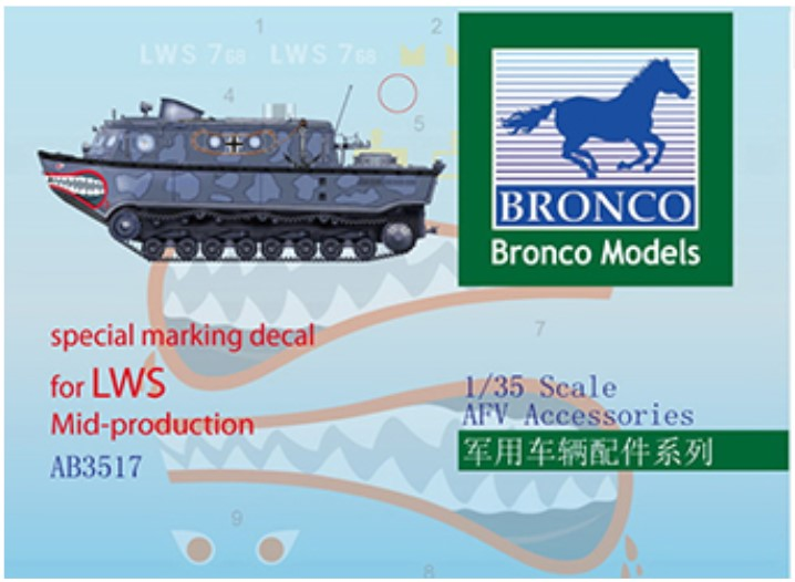 Bronco Models 1/35 Special Marking Decal for LWS Mid-Production Accessories Kit