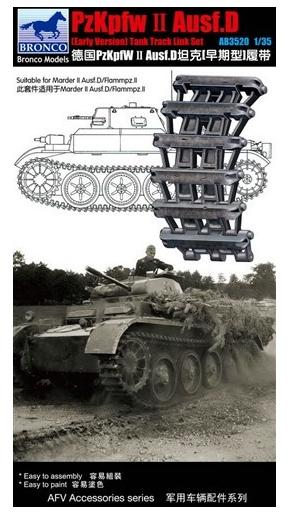 Bronco Models 1/35 Pzkpfw. II Ausf.D (Early Version) Track Link Set