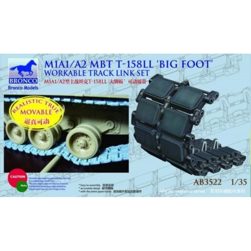 Bronco Models 1/35 M1A1/A2 MBT T-158LL Big Foot Workable Track Link Set