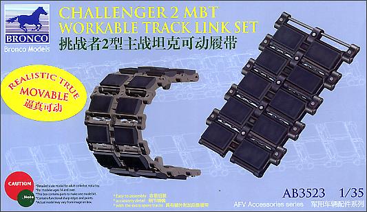 Bronco Models 1/35 Challenger 2 MBT Workable Track Link Set
